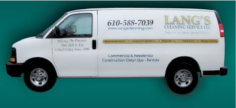 langs cleaning service van